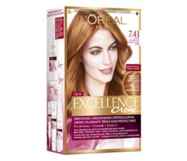 L`Oréal Excellence Creme 7.43 Koper Goudblond