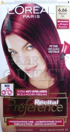 L`Oreal Recital Preference 6.66 Intensief Rood