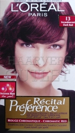 L`Oreal Recital Preference 13 Gloeiend Rood
