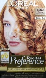 L`Oreal Recital Preference 8.346 Fel Goud Koperblond
