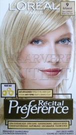 L`Oreal Recital Preference 9 Zeer Lichtblond