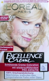 L`Oréal Excellence Creme 9.31 Zeer Licht Goudblond