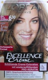 L`Oréal Excellence Creme 6.30 Zeer Licht Goudbruin