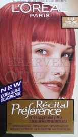 L`Oreal Recital Preference 6.64 Intensief Koper Rood