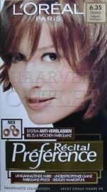 L`Oreal Recital Preference 6.35 Fel Goud Mahonie
