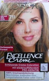 L`Oréal Excellence Creme 7.31 Beige Blond