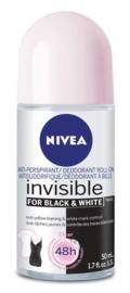 Nivea Invisible for Black & White Clear Anti-Transpirant Roller 50 ml