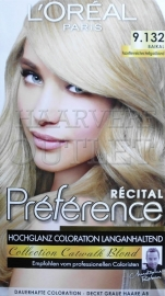 L`Oreal Recital Preference 9.132 Licht Goudblond