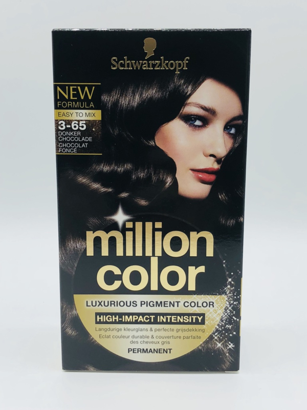 Schwarzkopf Million Color 3-65 Donker Chocolade