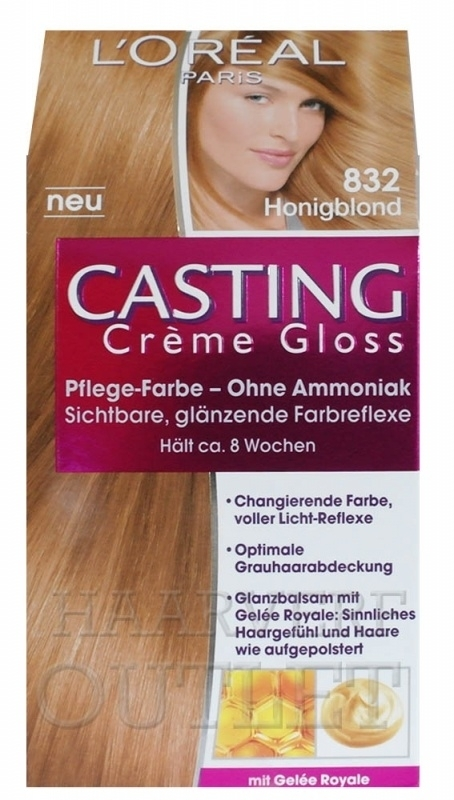 L`oreal Casting Creme Gloss 832 Honingblond