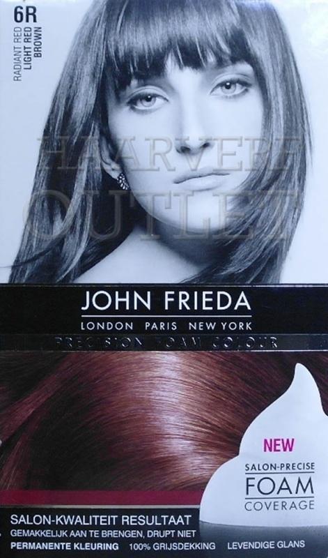 John Frieda Precision foam 6R Light Red Brown