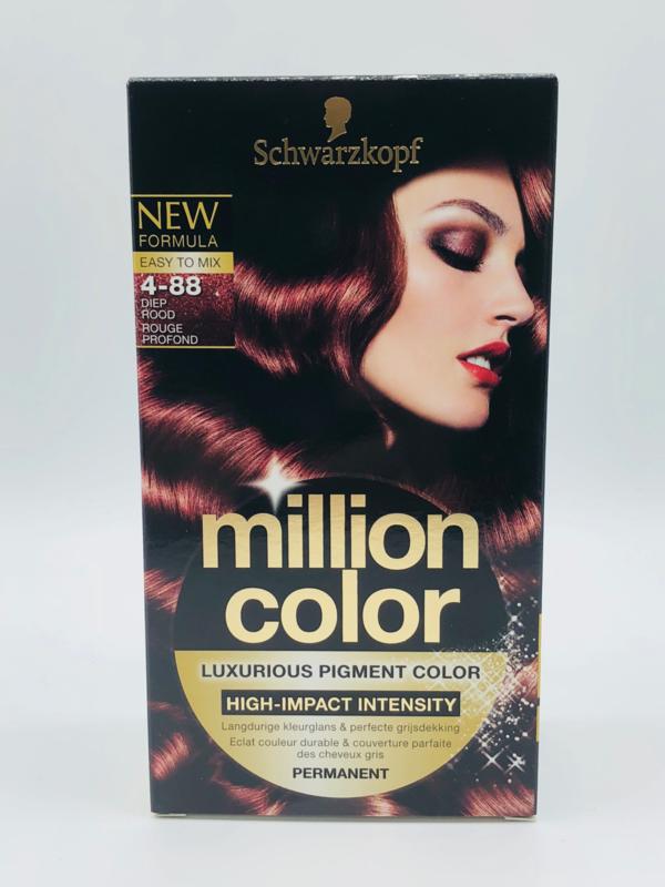Schwarzkopf Million Color 4-88 Diep Rood