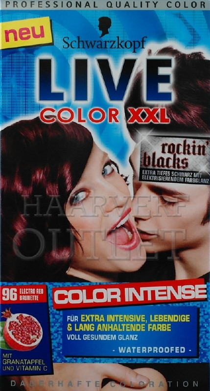 Schwarzkopf Live Color XXL 96 Electro Red Brunette
