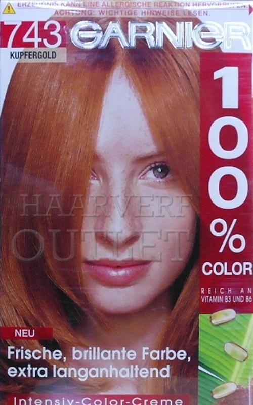 Garnier 100% Color 743 Koper-goud