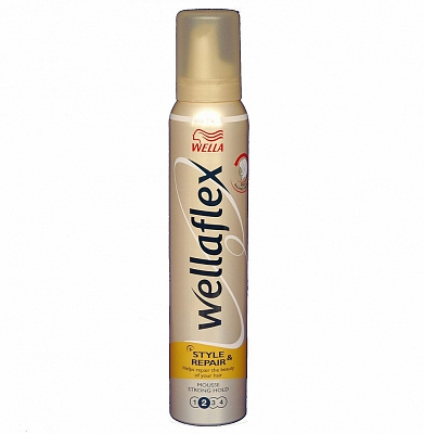 Wella Flex Mousse Strong Hold Repair And Style sterkte 2  200ml