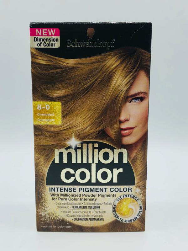Schwarzkopf Million Color 8-0 Champagne