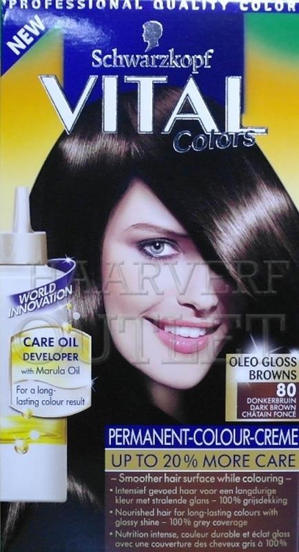 Schwarzkopf Vital Colors 80 Donkerbruin