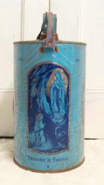 Souvenir blik 'Lourdes' VERKOCHT