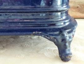 Kobaltblauwe rechaud VERKOCHT