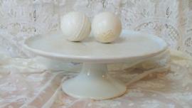 Witte taartplateau