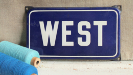 Emaille straatbord 'West'