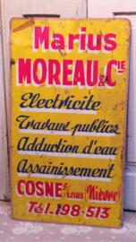 Blikken plaat Franse tekst VERKOCHT