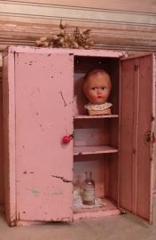 Blikken roze kinderkastje VERKOCHT