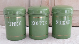 Koffie, thee & suiker bussen VERKOCHT