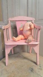 Roze kinderstoel VERKOCHT