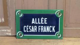 Straatnaambord uit Parijs VERKOCHT