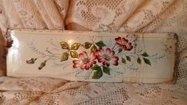 Emaille plaatje met bloemen VERKOCHT