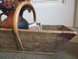 Franse houten plukbak VERKOCHT