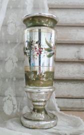Grote zilverglas bokaal // vaas VERKOCHT