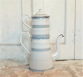 Emaille koffiepot met filter VERKOCHT