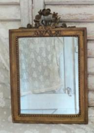 Verguld spiegeltje met strik VERKOCHT