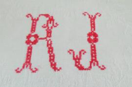 Theedoeken met monogram
