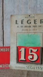 Kalendertje de Maison Léger VERKOCHT