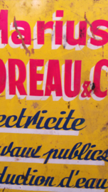 Blikken plaat Franse tekst