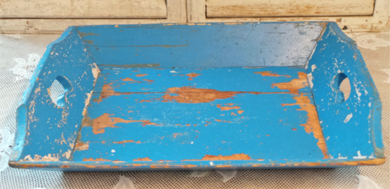 Zachtblauwe mangelbak