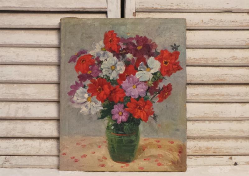 Schilderij bloemen op vaas
