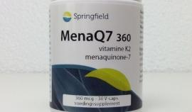 MenaQ7 360 - Vitamine K2 menaquinone-7 -360 mcg - 30 V-caps