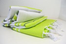 Hamamdoek Summer - Lime & Olijf