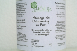 "Bionatural Massage olie ""Ontspanning & Rust"" - 500 ml"