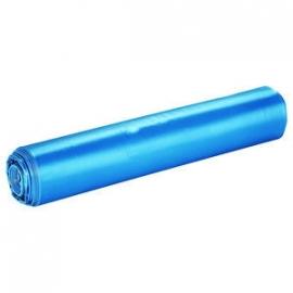 Afvalzak LDPE blauw 65/25x140cmT70 100st