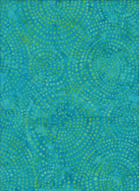 Handmade Batik  Bubbles Turquoise