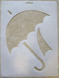 "Applique Stencil ""Dancing Umbrella"""