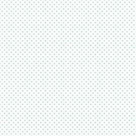 Swiss Dot On White Teal