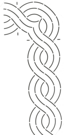 Quilt Stencil Cable Corner / Border 4 inch