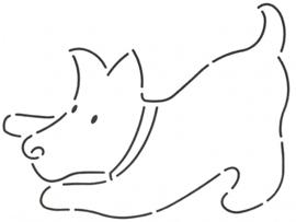 Scotty Dog Crouching