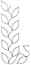Quilt Stencil Fern Border